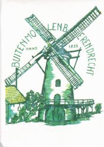 Buitenmolen Berendrecht - tekening door Toon Verbraak